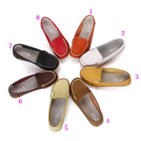 Wholesale cool Special genuine leather tendon flat shoes with round single women mother shoes flat boat scoop shoes