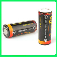 Wholesale TrustFire V mAh Rechargeable Li ion Batteries With PCB Protection For LED Flashlight