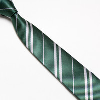 Wholesale 4 color Harry Potter tie Unisex Men s Fashion necktie Hogwarts School neckwear striped ties