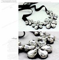 Wholesale Retro dark green gem diamond necklace fake collar sweater dress Collar Necklace