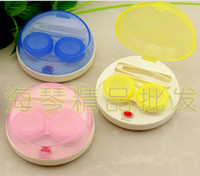 Wholesale automatic cleaning transparent lovers lens case electronic contact lens case