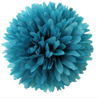 Wholesale inch Colorful Tissue Paper Flower ball Tissue Paper Pom Poms Wedding Party Decoration Colours You Can Pick