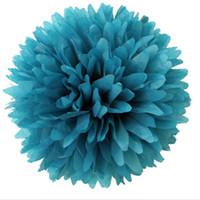 Revisiones Latas de papel-Decoración colorida 19Colours del banquete de boda de Pom Poms del papel del tejido de la bola de la flor del papel del tejido del envío 40pcs 14inch que usted puede escoger