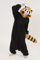 Wholesale Kigurumi Pyjamas Costume Anime Cosplay Red Panda Adult Onesies Animal Pajamas