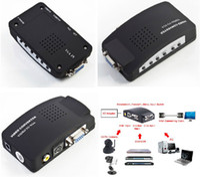 Wholesale Universal TV AV RCA Composite S Video to PC VGA Signal Adapter Converter Video