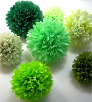 Wholesale inch cm Colorful Tissue Paper Flower ball Tissue Paper Pom Poms Wedding Decoration Colours You Can Pick