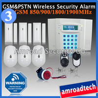 Wireless Home Alarm Burglar System GSM+ PSTN Dual Network 40 ...