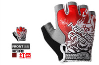 Wholesale 2013 NEW Cycling Bike Bicycle Half Finger Beautiful Gloves Size M L XL Yellow RED BLUE