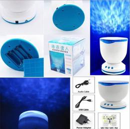 Wholesale Plug In Ocean Sea Night Light Projector Amazing Wave Speaker Lamp Baby Children