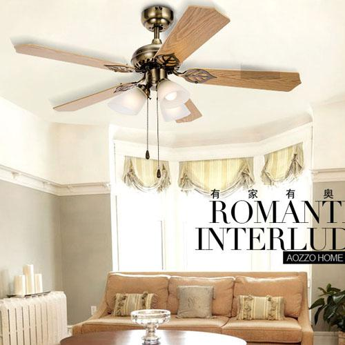 2017 Classical Bronze Top Ceiling Fan Light Glass Lampshade ...