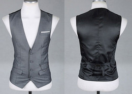 Wholesale new men s vest groom vests wedding vest black grey red colors