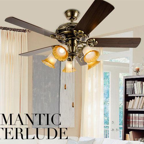 High Quality Ceiling Fan With Lights For Living Room 52: 2017 Dia. 52 Antique Luxury Bronze Ceiling Fan Glass