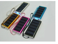 portable cell phone battery charger - 1350mah Portable solar power bank Dual USB Solar Battery Charger for Cell Phone MP3 USB LED flashlight power bank mobile bank