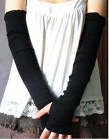 Wholesale Arm dew refers to modelling wristlet girl grows necessary half mittens long women knitted gloves