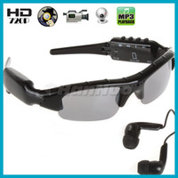 Wholesale x720 HD Hidden Spy Camera MP3 Sunglasses DVR with Bluetooth and Retail Box