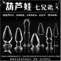Wholesale New arrive Crystal Butt Plug Set Craystal Glass dildo Anal Trainer Kit Anal Sex Toys for women Sex Products