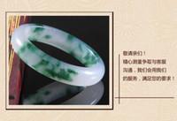 Wholesale A Grade A jade jadeite Natural stone new natural elegant green jade bangle bracelet natural jade natural stone