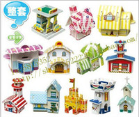 18.3*11.3*3.5cm 3d puzzles - Hot New D Jigsaw Puzzle Cubic D architectural models spell drawings model educational toys