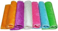 Wholesale DHL cm cm Bamboo Fiber Cleaning Cloth Not off The Fiber Absorbent Rag Without Detergent Bamboo Fiber