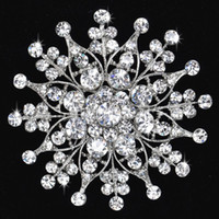 Wholesale Brooch Bride Wedding dress accessories Rhinestone Star Pin Clear Crystal Flower Jewelry Party Prom Pageant Brooches LK3153
