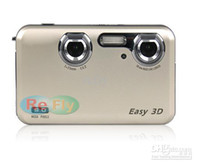 Wholesale New Arriva D digital stereo camera D D display without D glasses Video Camera mp3 mp4 player