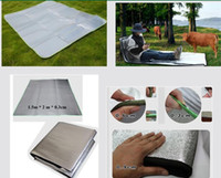 Wholesale 1 M Travel Camping Aluminum Foil Sleeping Dampproof Mats Pads Roll bed