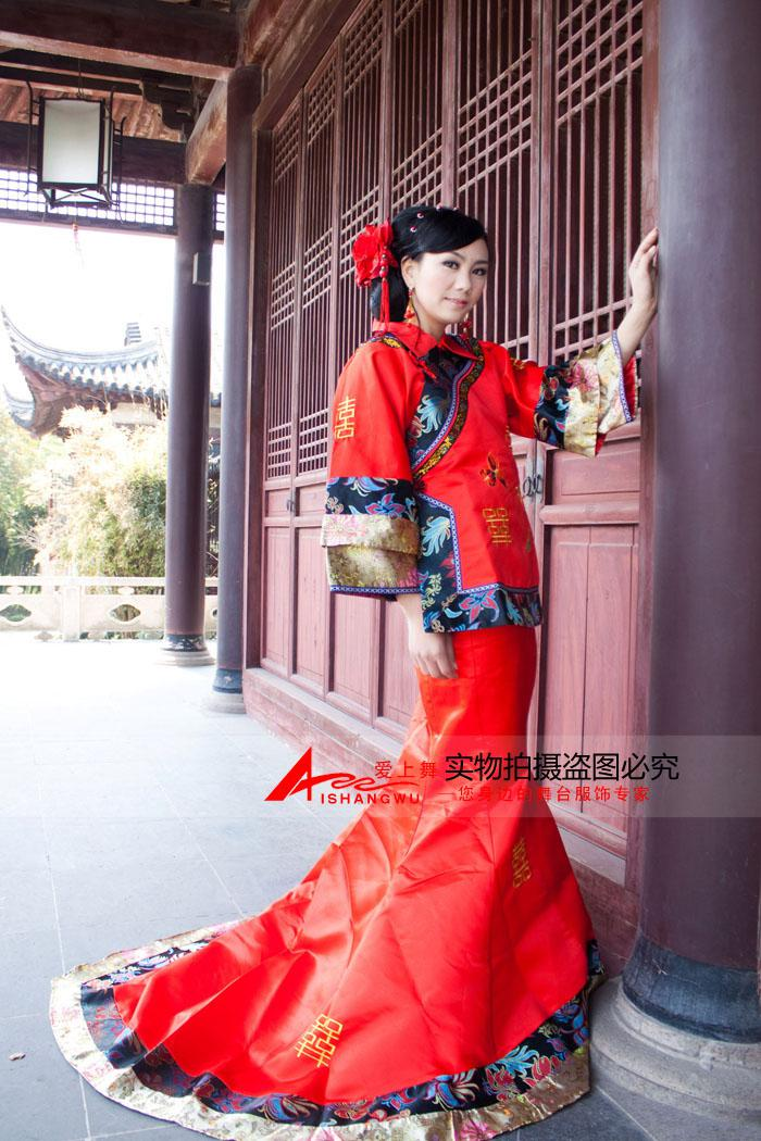Ancient Costume Mermaid Style Chinese Style Red