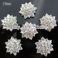 Wholesale 50pcs mm Clear Crystal Rhinestone Acrylic Rhinestone Buttons for Embellishment Hair Garment Accessories GZ010