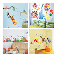 Peel & Stick PVC Animal Mix styles! Free shipping,30*60cm Cartoon wall stickers for kids rooms,10pcs Cheap Animal PVC wall decals,factory direct sales