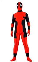 Unisex catsuit costume - Halloween party Deadpool costume lycra spandex zentai skin catsuit