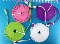 2M 6FT 3M 10FT Color Micro USB Flat Sync Noodles Data Chargi...