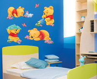 Wholesale Winnie the Pooh Wall Stickers Wall Sticker Bear Art Wall decal for children room HL968 SIZE X30CM