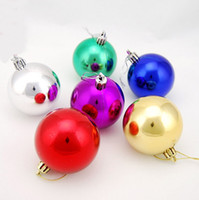 Wholesale Dia mm Color Plastic Ball Xmas Tree Decorations Yard Christmas Decorations