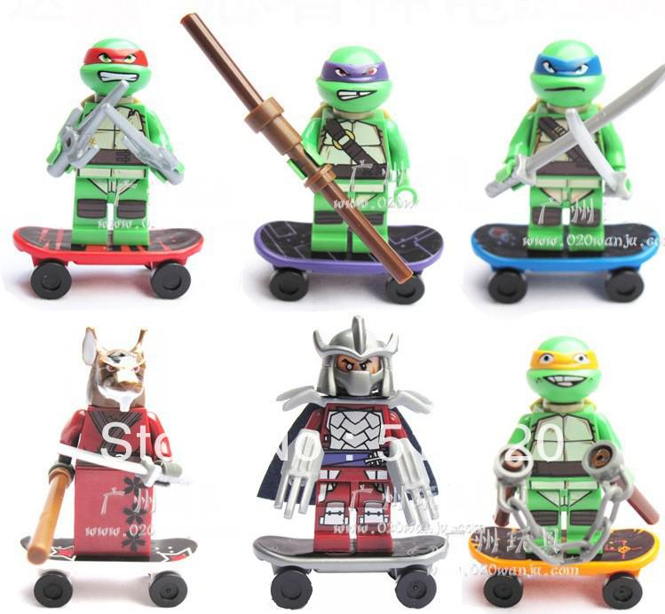 Lego Teenage Ninja Turtles Toys : Teenage mutant ninja turtles minifigure building blocks