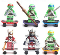 Wholesale Teenage Mutant Ninja Turtles Minifigure Building Blocks Sets Figure DIY Bricks toys