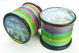 Wholesale 1000m strands Multicolour PE Braided Fishing Line Fishing Tackle LBS LBS