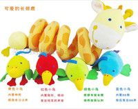 Cloth 0-12 Months Christmas 0-1 years old baby toys, baby deer ItsImagical trade multifunctional hanging around the bed bell bed 5pcs lot