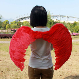 Wholesale Multi color Adult prom dress stage performance supplies feather angel wings X80CM