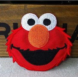 Wholesale Wholeslales Pieces Cartoon Sesame Street Elmo x cm Embroidered Applique Iron On Patch Kids Patch ALT