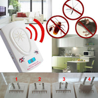 Wholesale Ultrasonic Electronic Helminthes Mosquito Machine Bug Mouse Pest Rodents Insect Cockroach Repeller Repellent Device Fast Shipping