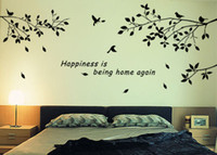 Wholesale DIY Removable Mural Decal Wall Sticker Trees Branches Birds Art Vinyl Decor