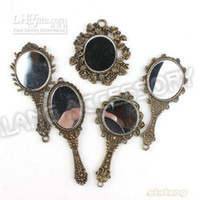 Wholesale 15pcs Fashion Zinc Alloy Mixed Mirrors Shape Antique Bronze Plated Charms Pendants Fit Jewelry N