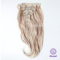 Wholesale 7 From cm CM blond curly wavy Clip In Full Head Set Wig Hair Piece Extensions Hairpieces H8004I H8005I