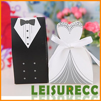 Wholesale Wedding Candy Boxes Paper White and Black European And American Design Wedding Favor Bags HQ0003