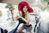 La manera caliente de la venta 2017 que dobla el sombrero vacío del sol para el casquillo de playa multicolor de los sombreros de paja de la playa del verano de los casquillos de sol de las mujeres