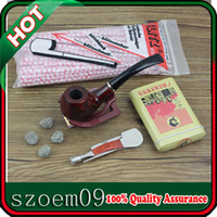 Wholesale Hot Sale in Cool Cigar Case Box Tin Net Mesh Ball Pipe Cleaners Stand Wooden Pipe Cleaning Tool Wooden Smoking Pipe