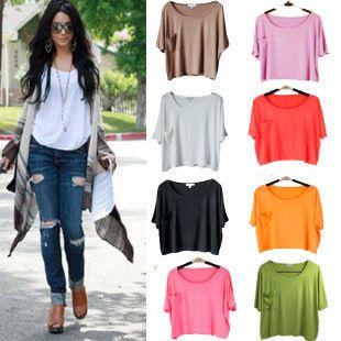 2013 Fashion Women's T-shirts Casual T-shirt Tops New Summer T ...