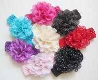 Headbands beautiful barrettes - 40pcs Color Children Beautiful Hair Jewelry Headband Fashion Baby Chiffon Headband Baby Lace Hair Accessories