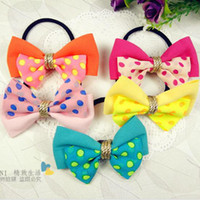 Wholesale Mix color Elastic Bownot Hairband Fashion Hair Accessories Women s Hair Ornaments