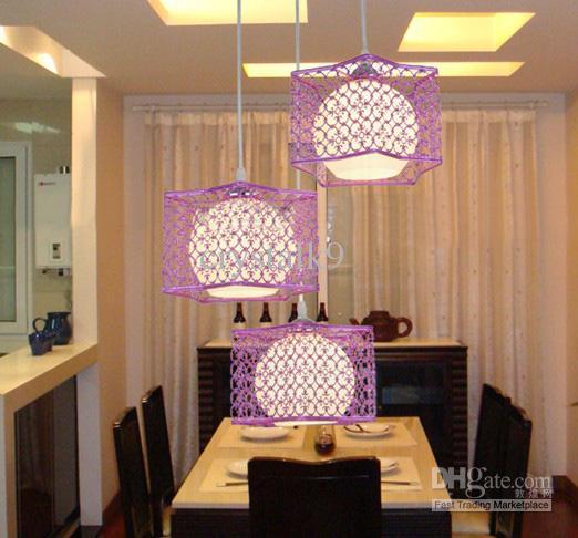 Modern Fashion White Purple Rose Gold Stainless Steel Glass Pendant Light  Chandelier Study Room Living Room Lamp 110cm*20cm Modern Pendant Lamp Glass  ... Part 72